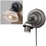 ガラスシェードブラケット「ダイナーベーシックウォール」1灯ビンテージメタル(W136mm)