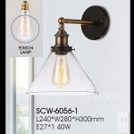 <b>【SUPRA】</b>インダストリアル・スタイル ウォールランプ 1灯(W280×D240×H300mm)