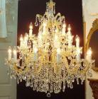 <B>【LA LUCE】</B>アスフールorスワロフスキークリスタルシャンデリア 30灯(W1000×H980mm)
