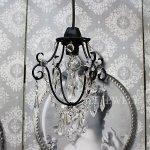<B>【NORIKO HERRON】</B>デザインシャンデリア「Diamante Mini Black」1灯(W150×H230mm)