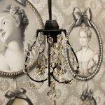 <B>【在庫有!】【NORIKO HERRON】</B>デザインシャンデリア「Picche Mini Black」1灯(W150×H230mm)