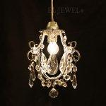 <B>【在庫有!】【NORIKO HERRON】</B>デザインシャンデリア「Diamante Mini Silver」1灯(W150×H230mm)