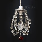<B>【在庫有!】【NORIKO HERRON】</B>デザインシャンデリア「Picche Mini Silver Red」1灯(W180×H220mm)