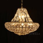 <B>【在庫有!】【LA LUCE】</B>エンパイア型シャンデリア10灯 シャンパンゴールド(W420×H340mm)