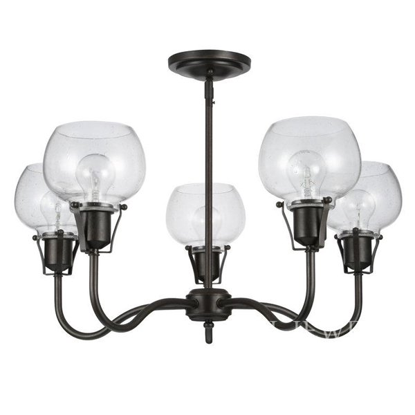 【FEISS】 アメリカ製デザインシャンデリア「Light Urban Renewal Chandelier」5灯(W304×H692mm)
