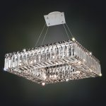 <b>【ALLEGRI】</b>クリスタルシャンデリア「QUADRO」8灯クローム(W460×D460×H300mm)