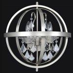 <b>【ALLEGRI】</b>クリスタルデザインブラケット「CATEL」2灯クローム(W430×H450mm)