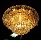 <B>【LA LUCE】</B>クリスタルシーリングシャンデリア 31灯 ゴールド(W1200×H500mm)