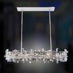 <b>【ALLEGRI】</b>クリスタルシャンデリア「VERMEER」8灯クローム(W1120×H330mm)