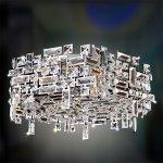 【ALLEGRI】クリスタルシャンデリア「VERMEER」6灯クローム(W610×D610×H250mm)