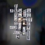 <b>【ALLEGRI】</b>クリスタルブラケット「VERMEER」2灯クローム(W200×H300mm)
