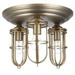 <B>【FEISS】</B>アメリカ製デザインシーリングシャンデリア「LIGHT URBAN RENEWAL FLUSHMOUNT」3灯(W381×H287mm)