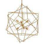<B>【CURREY】</B>デザインシャンデリア「AERIAL CHANDELIER」 6灯 ゴールド(φ787×H863mm)