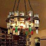 <b>【1台のみ在庫有】</b>ワインボトル照明4灯(Φ600×H1400mm)