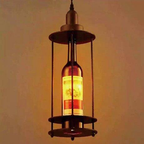 【在庫有!】 インダストリアル・スタイル照明 ワインボトル