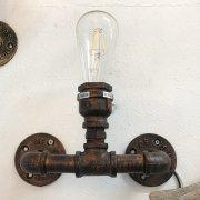 <b></b>インダストリアル・スタイル照明 パイプ型ブラケット 1灯