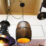<B>【1台在庫有!】</B>インダストリアル・スタイル照明 樽型 1灯(W200×H300mm)