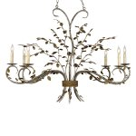 【CURREY】デザインシャンデリア「RAINTREE OVAL CHANDELIER」 6灯 (W838×D457×H1092mm)