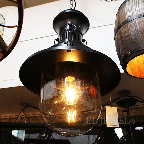 インダストリアル・スタイル照明 ペンダントライト 1灯 ブラック(W370×H600mm)
