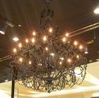 <B>【LA LUCE】</B>クリスタルシャンデリア 18灯 ブラック(W1300×H1700mm)