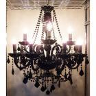 クリスタルシャンデリア 12灯 ブラック(W750×H830mm)