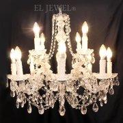 <B>【LA LUCE】</B>マリアテレサ型 クリスタルシャンデリア 12灯 (W700×H620mm)