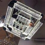 <b></b>シーリング・デザインシャンデリア「スターダスト」LED20灯(W700×H240mm)