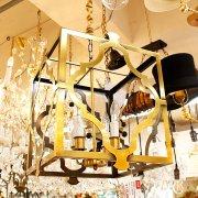 <b>【在庫有!】</b>デザイン照明4灯・アンティークゴールド(W400×H490mm)