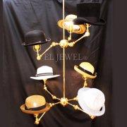 【1台在庫有!】デザイン照明 ハットシェードシャンデリア 7灯(φ1050×H1170mm)