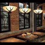 <b>【在庫有!】</b>デザイン照明 ホーン型シャンデリア 3灯(φ430×H450mm)