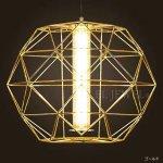 デザイン照明 ゴールドorシルバー 1灯(φ500×H490mm)