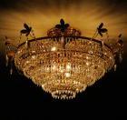 <B>【LA LUCE】</B>スワロフスキークリスタルシャンデリア 10灯(W800×H640mm)