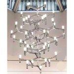 ミッドセンチュリー・スタイル照明 45灯 クローム (φ1150 H1600)