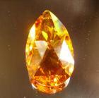 <B>【SWAROVSKI】</B>スワロフスキークリスタルパーツ ドロップ型(ダイヤカット) #8721「トパーズ」