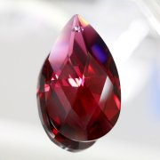 <B>【SWAROVSKI】</B>スワロフスキークリスタルパーツ ドロップ型(ダイヤカット) #8721「ボルドー」