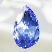 <B>【SWAROVSKI】</B>スワロフスキークリスタルパーツ ドロップ型(ダイヤカット) #8721「Md. Sapphire」