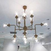 ガラスボールシェード・デザイン照明12灯(W1250×H1050mm)