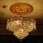 <b>【LA LUCE】</B>レガシーII チャイニーズクリスタルシャンデリア 5灯 ゴールド(W530×H510mm)