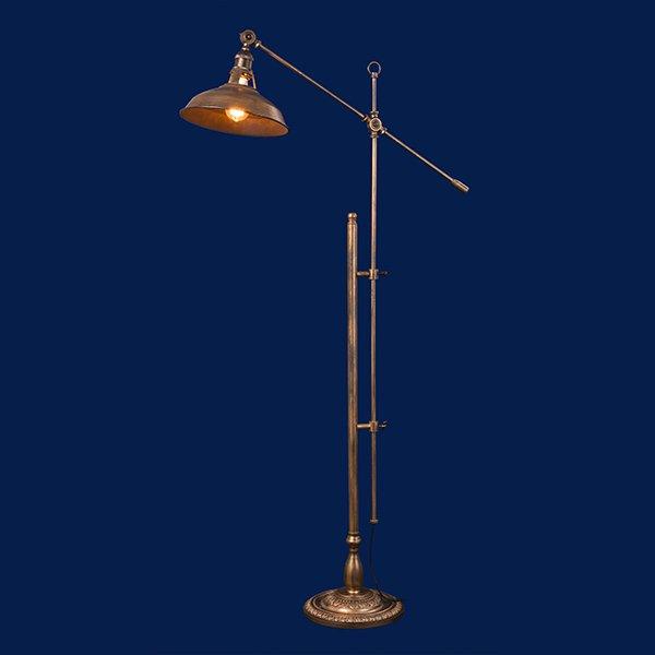 【即納可!】シェードフロアーライト1灯(H1250〜1750×W740〜850mm)白熱球orLED