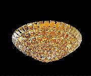 シーリングシャンデリア 16灯 ゴールド(W800×H315mm)