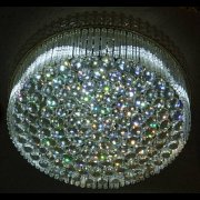 シーリング・ボールシャンデリア 8灯 クローム (W600mm×H250mm)【3色切替LED電球付き】