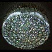 シーリング・ボールシャンデリア 8灯 クローム(W600mm×H250mm)【3色切替LED電球付き】