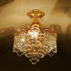 <b>【LA LUCE】</B>レガシーII チャイニーズクリスタルシャンデリア 3灯 ゴールド(W330×H380mm)