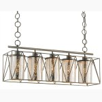 <B>【CURREY】</B>「MARMANDE RECTANGULAR CHANDELIER」5灯 (W910×D250×H380mm)