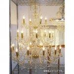 【在庫有!】【LA LUCE】豪華版クリスタルシャンデリア 24灯 クローム
