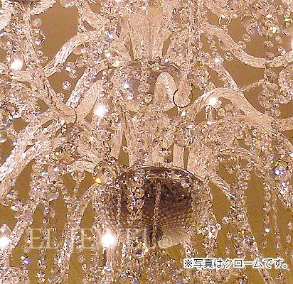 【在庫有!】【LA LUCE】クリスタルシャンデリア24灯【豪華版・縦型】ゴールド(W1200×H1550mm)