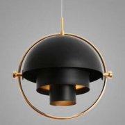 <b>【在庫有!】</b>デザイン照明 ペンダントライト ブラック 1灯(W380×H400mm)