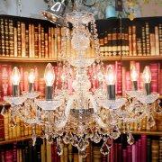 【LA LUCE】</B>クリスタルシャンデリア 8灯【ボヘミアB】(W660×H640mm)