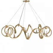 <B>【CURREY】</B>「RINGMASTER CHANDELIER」デザインシャンデリア10灯 (W1170×H410mm)
