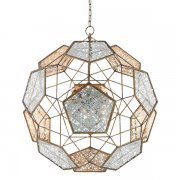 <B>【CURREY】</B>「JULIUS ORB CHANDELIER」デザインシャンデリア9灯 (W790×H830mm)
